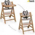 Drewniane krzesełka do karmienia niemowląt
